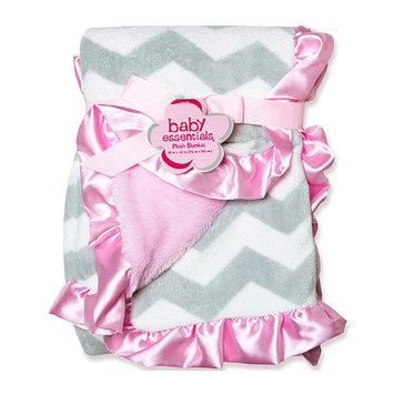 Baby Essentials Grey Chevron Plush Blanket