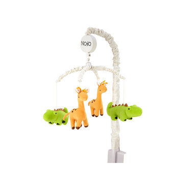 Babies R Us NoJo Zoobilee Zoo Animals Musical Crib Mobile (White)
