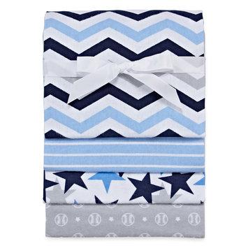 Okie Dokie Blue Chevron Blanket