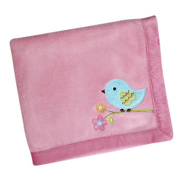 Crown Craft NoJo Love Birds Plush Baby Blanket