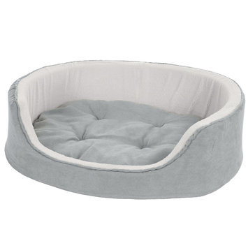Petmaker Watches Gray Cuddle Round Microsuede Pet Bed