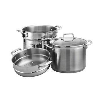 Tramontina Gourmet 4-pc. Tri-Ply 8-qt. Multi-Cooker