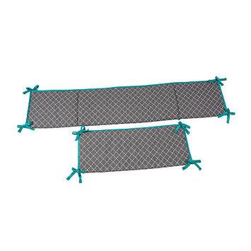 Asstd National Brand Safari Monkey Padded Crib Bumper