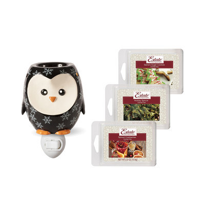 Estate Penguin Accent Wax Warmer Gift Set