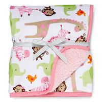 Carter's Sherpa Pink Zebra Blanket - Girls