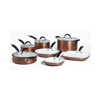 Bella 11-pc. Ceramic Hard-Anodized Cookware Set