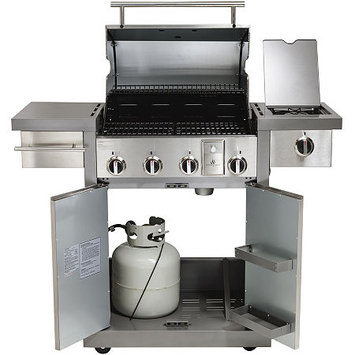 Hamilton Beach - Grillstation Gas Grill W/ 15.53 Kw 594 Sq. Ft. Cooking Surface