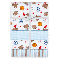 Carter's Bears and Sports 4-pack Receiving Blankets - Boys