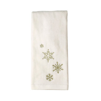 Saturday Knight Snowflakes Hand Towel