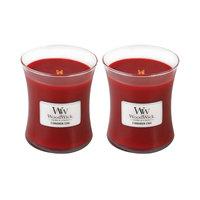 WoodWick Set of 2 Medium Cinnamon Chai Candles