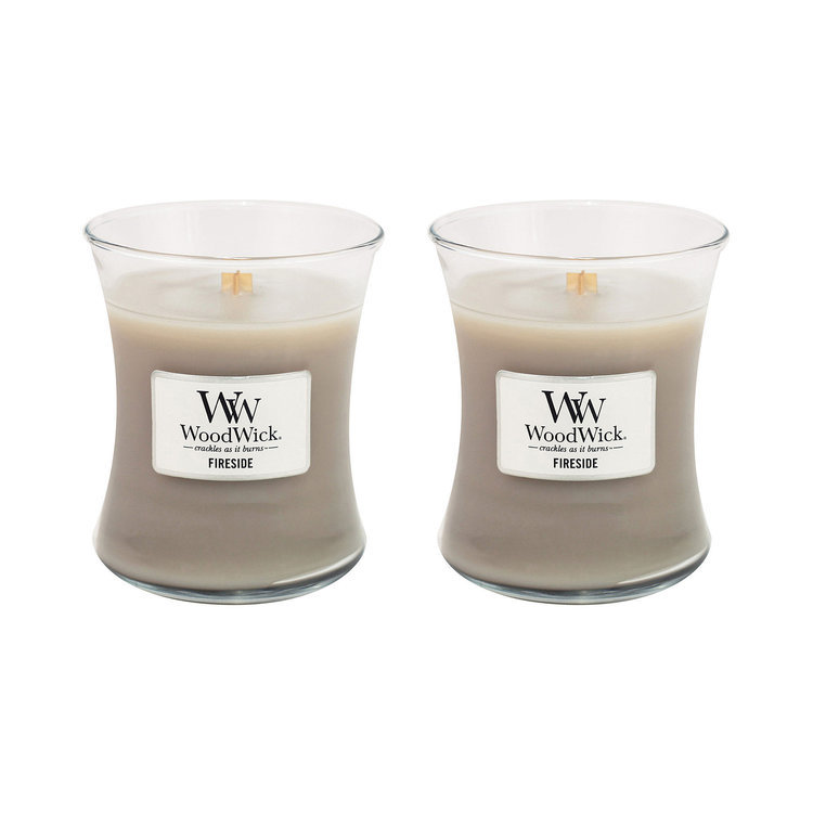 WoodWick Set of 2 Medium Fireside Candles