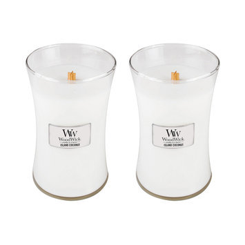 WoodWick Set of 2 Large Island Coconut Candles