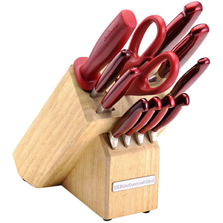 KitchenAid 12-pc. Cutlery Set, Pearlized Candy Apple Red