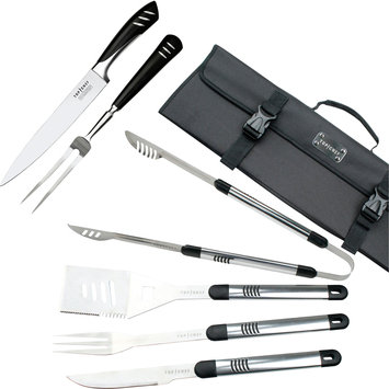 Top Chef Stainless Steel BBQ and Carving Sets, 7 Pieces
