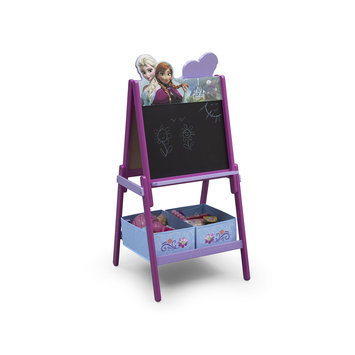 Delta Children Frozen Wooden Double Sided Activity Easel with Storage