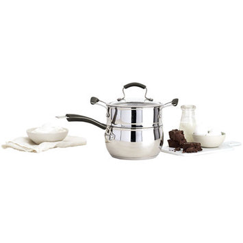 Epicurious 2½-qt. Stainless Steel Double Boiler Set