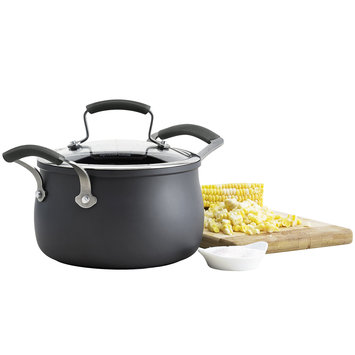 Epicurious 3-qt. Hard-Anodized Soup Pot with Lid