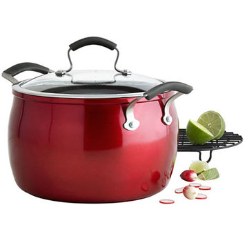 Epicurious 8-qt. Aluminum Nonstick Stock Pot with Meat Rack