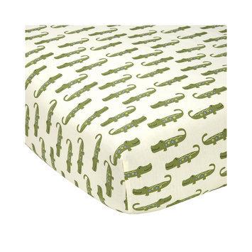 Crown Craft NoJo Alligator Blues Crib Sheet