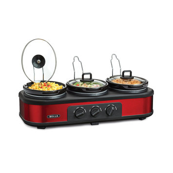 Bella Red and Black Triple Bella Slow Cooker Buffet 13698 - SENSIO INC.