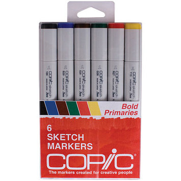 Asstd National Brand Copic 6-pc. Sketch Markers - Bold Primaries