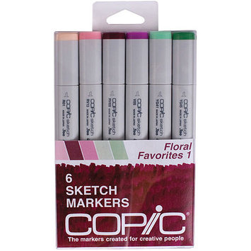 Asstd National Brand Copic 6-pk. Sketch Markers - Floral Favorites 1