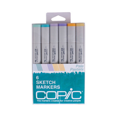 Asstd National Brand Copic 6-pk. Sketch Markers - Pale Pastels