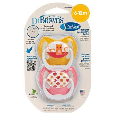 Dr Brown's Dr. Brown's PreVent Pacifier - Pink - Stage 2 - 1 ct.