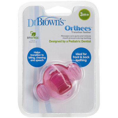 Dr Brown's Dr. Brown's Orthees Transition Teether - Pink - 1 ct.