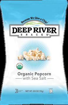 Deep River Snacks Organic Popcorn with Sea Salt