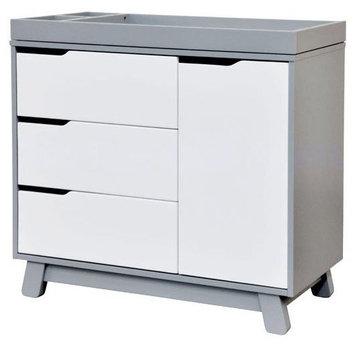 Million Dollar Baby Babyletto Hudson Changer Dresser Two-Tone Grey & White