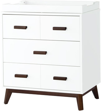 Babyletto Scoot 3-Drawer Changer Dresser Finish: White/Walnut