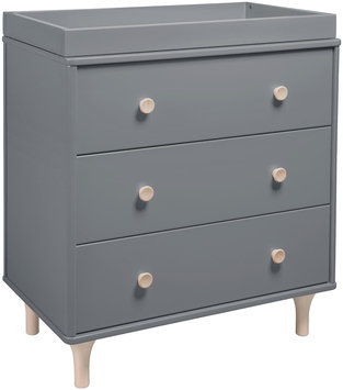 Babyletto Lolly 3-Drawer Changer Dresser (Grey)