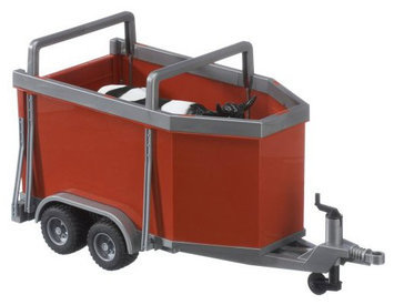 Bruder Cattle Trailer With Cow