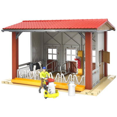 Bruder BWorld Cow Barn with Cow and Figure