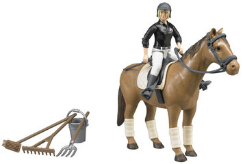 Bruder Horse Woman and Riding Accessories by Bruder