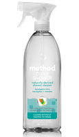 method eucalyptus mint scent daily shower cleaner