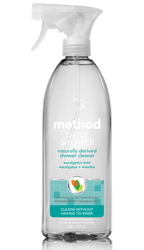 method eucalyptus mint scent daily shower cleaner