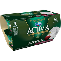Dannon Activia Black Cherry Greek Nonfat Yogurt