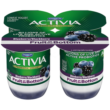 Activia® Blueberry And Blackberry Fruit Fusion Yogurt