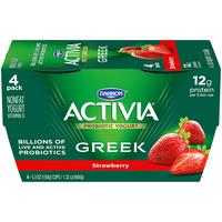 Dannon Activia Greek Strawberry Nonfat Yogurt