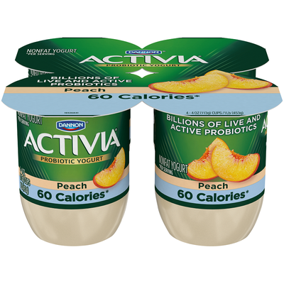 Dannon Activia Light Peach Probiotics Nonfat Yogurt