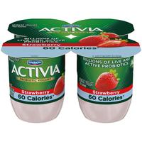 Dannon Activia Light Strawberry Probiotics Nonfat Yogurt