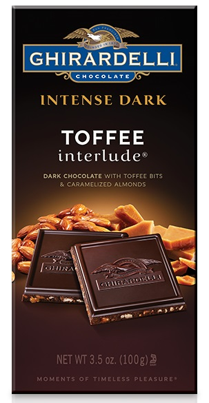 Ghirardelli Dark Chocolate Toffee & Caramelized Almonds Bar