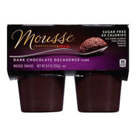 JELL-O Mousse Temptation Dark Chocolate Decadence Mousse Snacks