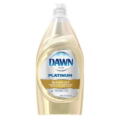 Dawn Platinum Bleach Alternative Dishwashing Liquid Fresh Rapids