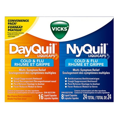 DayQuil™/NyQuil™ Cold & Flu Multi Symptom LiquiCaps™