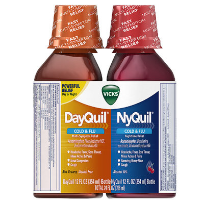 DayQuil™/Nyquil™ Cherry Cold & Flu Relief Liquid Co-Pack