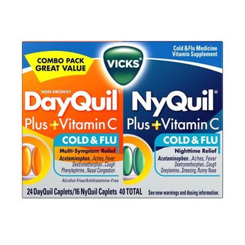 DayQuil™/Nyquil™ Plus + Vitamin C Cold & Flu Relief Caplets Co-Pack