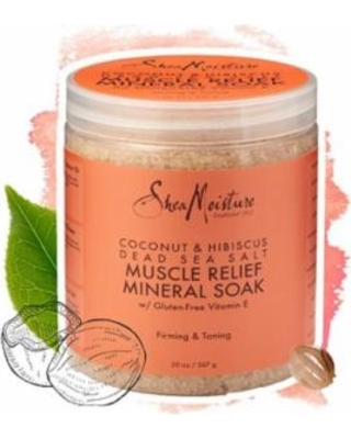 SheaMoisture Coconut & Hibiscus Dead Sea Salt Muscle Relief Mineral Soak